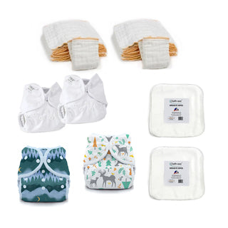 cloth diaper kit for woodland