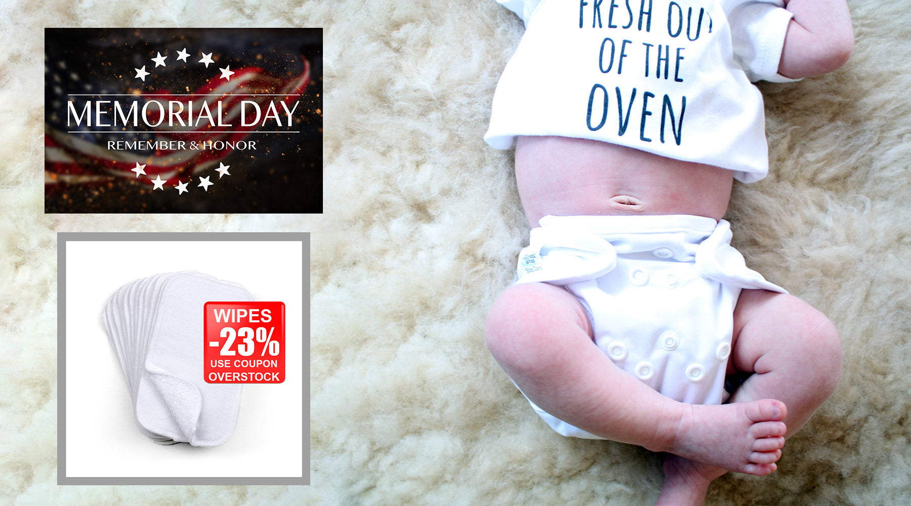 baby in cloth diaper memorial day sale coupon for baby wipes