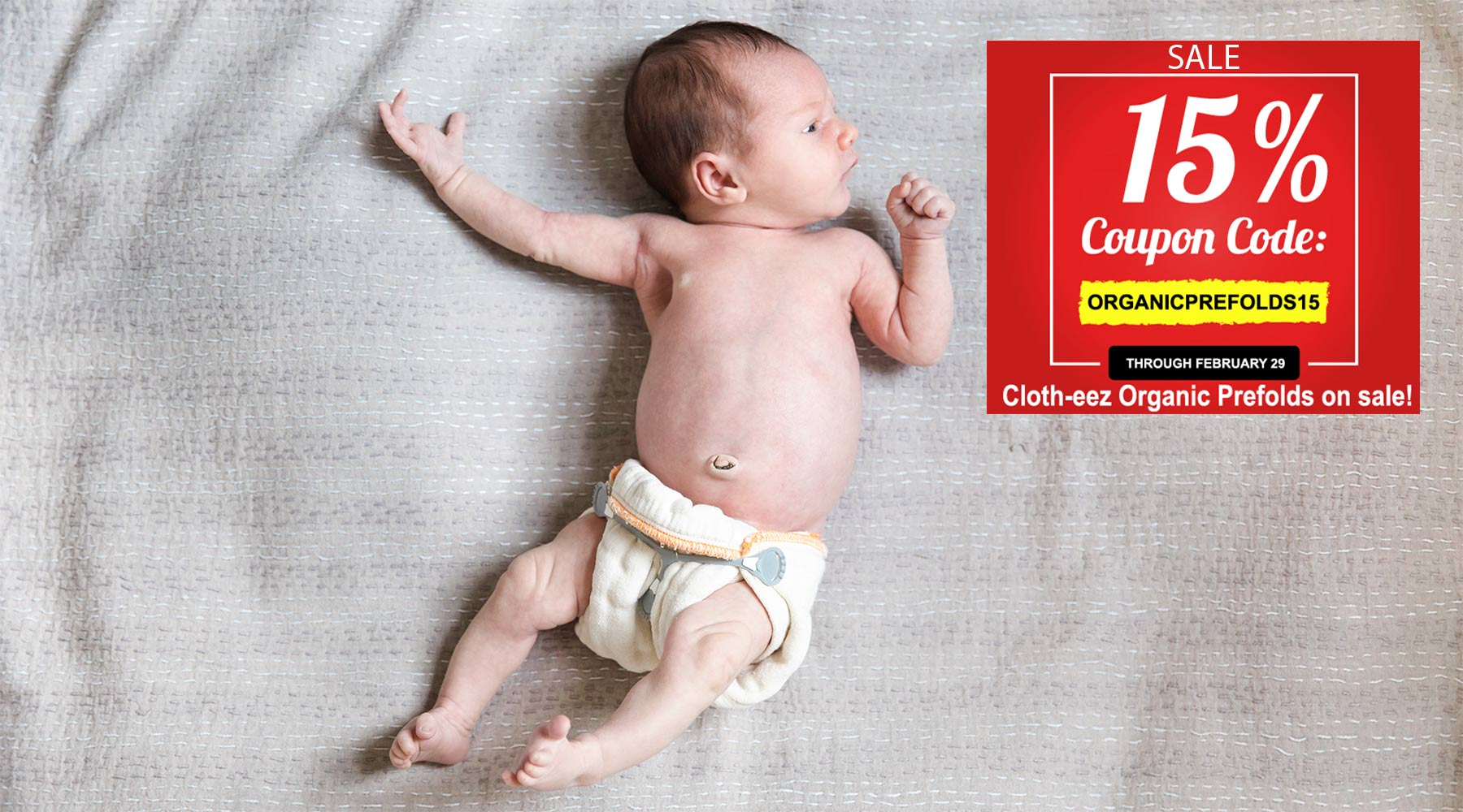 organic baby diapers prefolds on sale newborn baby looking at coupon
