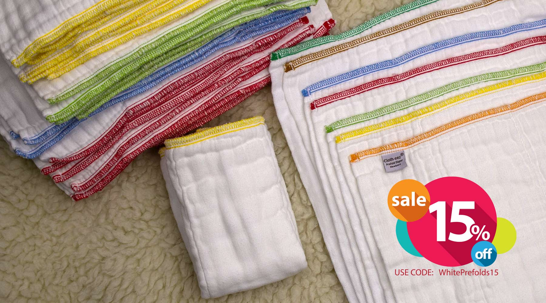 cloth diapers prefolds on sale