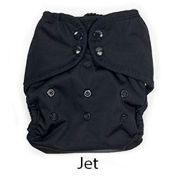 jet black cloth diaper
