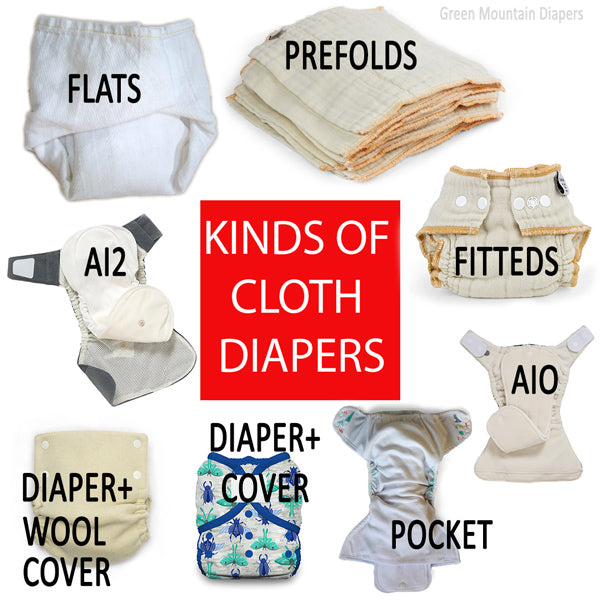 kinds of cloth diapers