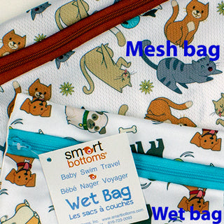 mesh bag and wet bag compared
