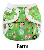 mini coveralls newborn diaper cover farm print