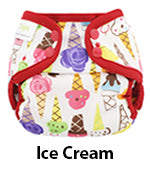 Blueberry Minicoveralls ice cream print diaper cover