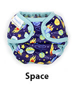 space blueberry minicoveralls