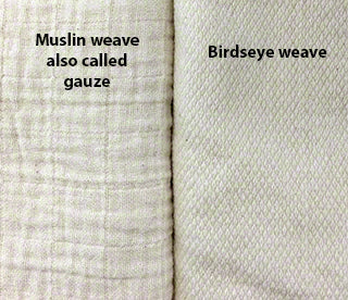 compare muslin and birdseye