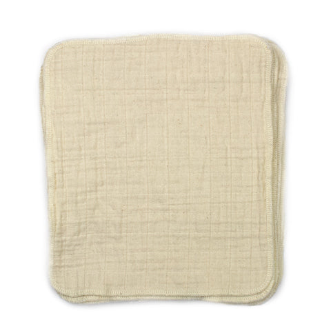 Cloth-eez organic baby wipes one layer muslin cotton