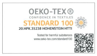 Oeko-tex certfication for organic cotton items