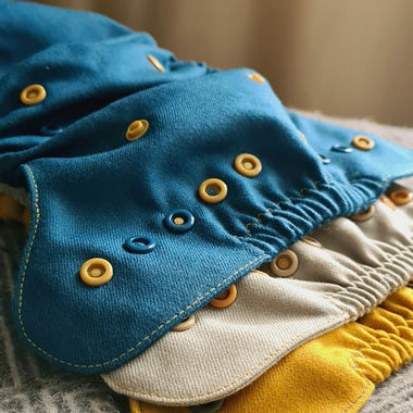 puppi wool covers blue yellow