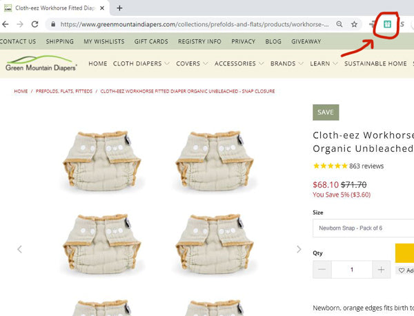 adding Workhorse diapers to gift registry