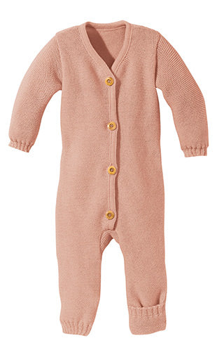 Disana wool romper rose pink