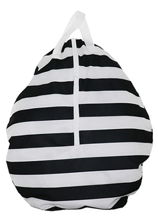 manhattan stripe hanging wet bag