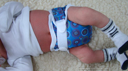 newborn baby in blue