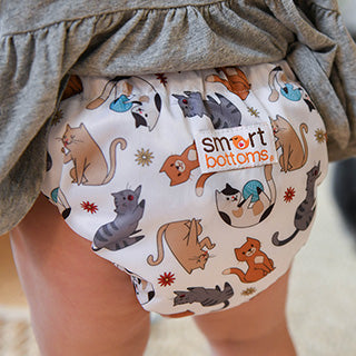 Felix cat print smart one organic cloth diaper