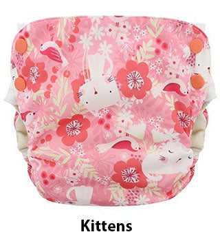 side snap simplex aio diaper kittens