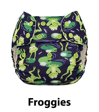 cloth diaper frog print