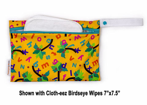 shown with birdseye baby wipes in the wet bag