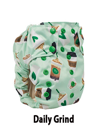 daily grind smart bottoms smart one coffee diaper print