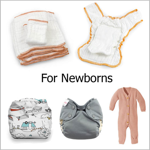 cloth diapers for a newborn baby