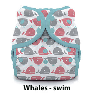Thirsties swim diaper whales print