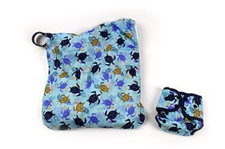 swim diaper and matching wet bag