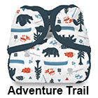 Adventure Trail snap diaper cover
