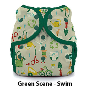 Swim Diaper Green Scene