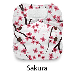Thirsties Natural Newborn AIO Hook and Loop Sakura
