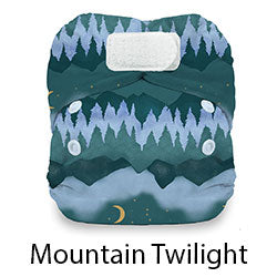 Natural Newborn Hook and Loop Mountain Twilight