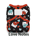 Thirsties Duo Wrap hook and loop love notes
