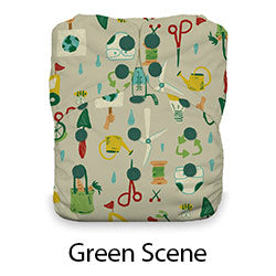 Thirsties Natural AIO Snap Green Scene