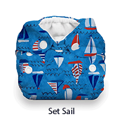 Thirsties Natural NB Snap Set Sail