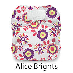 Thirsties Natural Newborn Hook and Loop Alice Brights