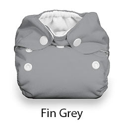 Thirsties Natural Newborn Snap Fin Grey