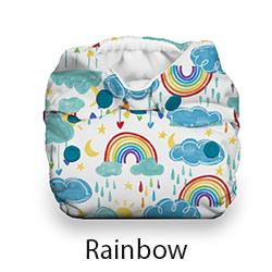 Thirsties Natural Newborn Snap Rainbow