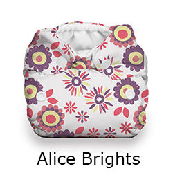 Thirsties Natural Newborn all in one alice brights