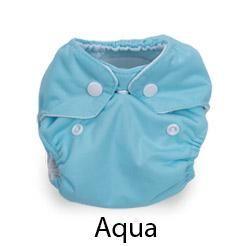 Thirsties Natural Newborn Snap Aqua