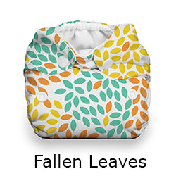 Thirsties Natural Newborn all in one fallen leaves