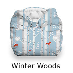 Thirsties Natural Newborn all in one winter woods