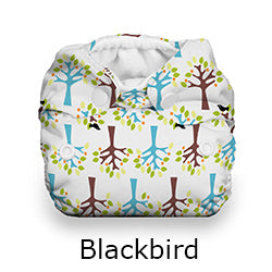 Thirsties Natural Newborn all in one blackbird
