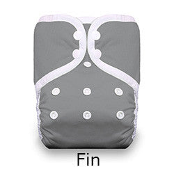 Thirsties pocket diaper fin grey