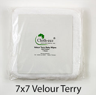 velour terry baby wipes