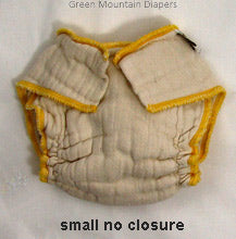 small no closure diaper