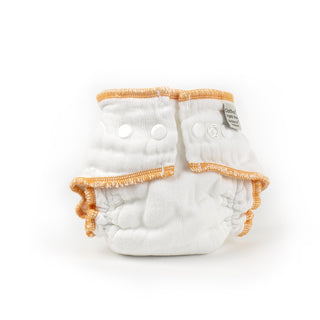 Newborn organic white Workhorse cloth diaper
