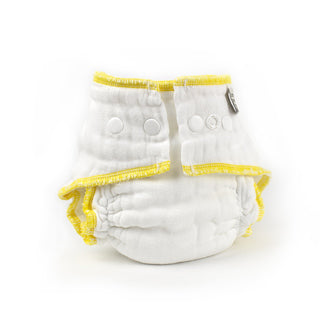 Small organic white Workhorse cloth diaper