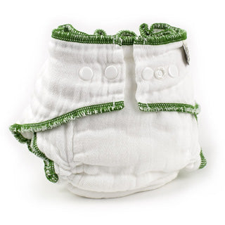 Xlarge toddler organic white Workhorse cloth diaper