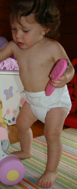 picture of bummis diaper wrap on baby