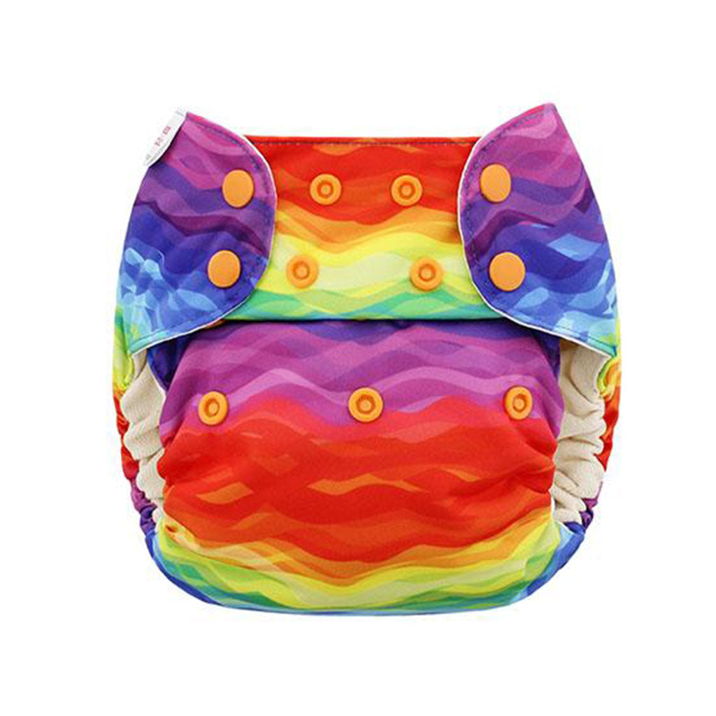 Blueberry One Size Simplex Rainbow Waves