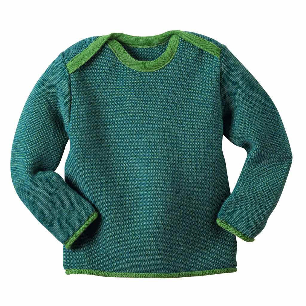 Disana Wool Pullover Sweater Green